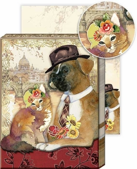 Boxer & Tabby Pocket Note Pad