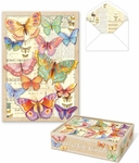 Bright Butteflies Die-Cut Note Cards