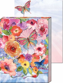 Butterfly Floral Diecut Window Pocket Notepad