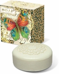 Butterfly Leopard Green Tea Pleat-Wrapped Soap