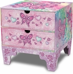 Butterfly Rainbow Square Chest
