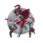 Candy Cane Witch Figurine