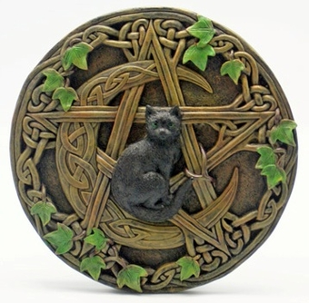 Cat Pentacle Wall Plaque