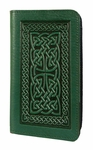 Celtic Braid Leather Check Book Cover