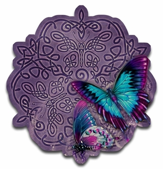 Celtic Butterfly Wood Wall Plaque