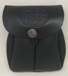 Celtic Circle Drawstring Leather Pouch