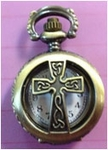 Celtic Cross Pocket Watch Necklace