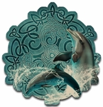 Celtic Dolphin Wood Wall Plaque
