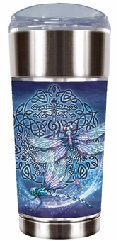Celtic Dragonfly Travel Mug