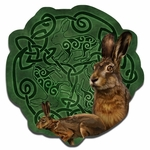 Celtic Hare Wood Wall Plaque