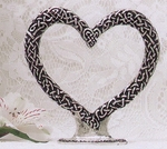 Celtic Heart Cake Topper