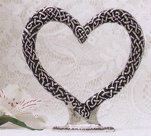 Celtic Heart Cake Topper Pewter Celtic Wedding Cake Top