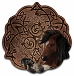 Celtic Horse Wood Wall Plaque