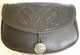Celtic Hounds Leather Belt Pouch (Wide)