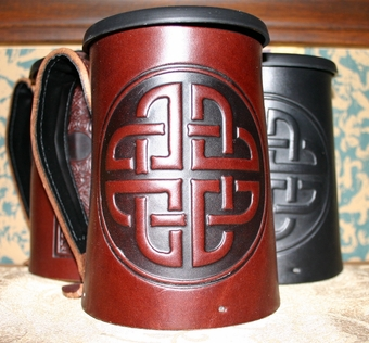 Bold Celtic Leather Mug