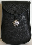 Celtic Leather Belt Pouch (Deep)