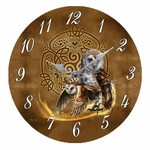 Celtic Owl Clock