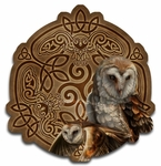 Celtic Owl Wood Wall Plaque