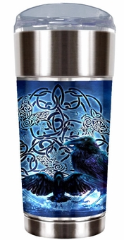 Celtic Raven Travel Mug