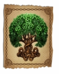 Celtic Tree Tattered Wood Print