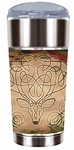 Celtic Yule Stag Travel Mug