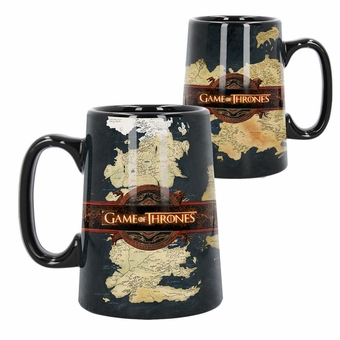 Ceramic Map Tankard: Game of Thrones
