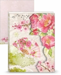 Cherry Blossoms Mini Portfolio Notepad
