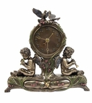 Cherubs Playing Music Clock