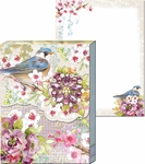 Chinoisserie Garden Brooch Mini Notepad