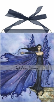 Cloak of Stars Fairy Art Tile <BR>by Amy Brown