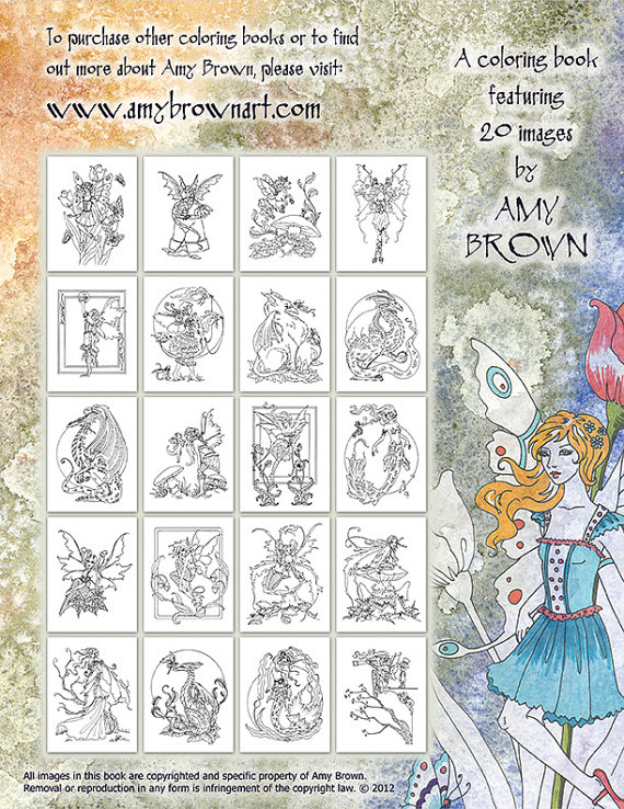 Color Your Fantasy Coloring Book by Amy Brown: Fairy Gifts ...