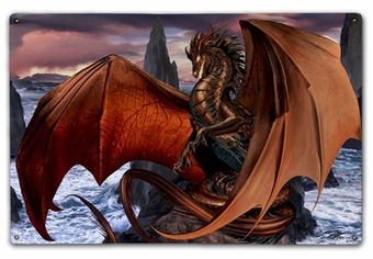 Coppervein Dragon 12x18 Metal Sign or Wood Wall Art