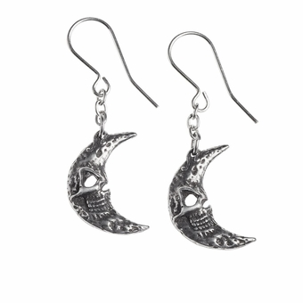 Crescens Tragicom Moon Earrings