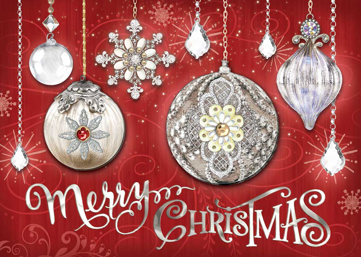 Crystal Ornaments Boxed Christmas Cards: Holiday: Punch Studio ...