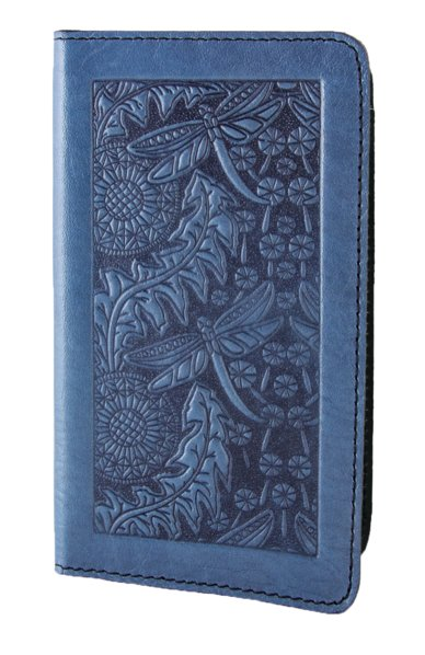Business Size Checkbook Covers : Dandelion dragonfly checkbook cover leather gifts