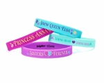 Frozen Rubber Bracelets, 4 Count