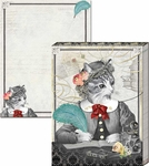 Distinguished Cat Pocket Notepad