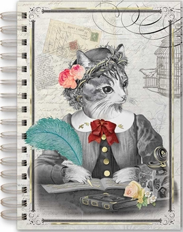 Distinguished Cat Spiral Bound Journal