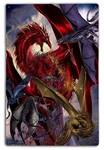 Dragon Battle 12x18 Metal Sign or Wood Wall Art