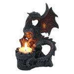 Dragon & Castle Candle Holder