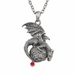 Celtic Orb Dragon Necklace
