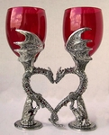 Dragon Heart Wine Glasses