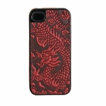 Red Dragon Leather iPhone Case
