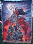 Dragon Reaper Tapestry Throw Blanket