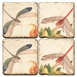 Dragonfly Marble Coaster Set