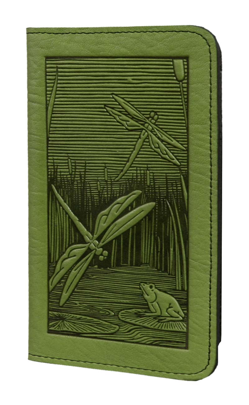 Business Size Checkbook Covers : Dragonfly leather check book cover by oberon designs