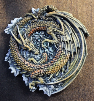 Dragonholly Dragon Ornament by Andrew Bill