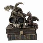 Dragonlings on Skull & Books