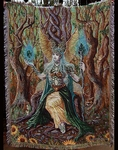 Earth Fairy Tapestry Throw Blanket