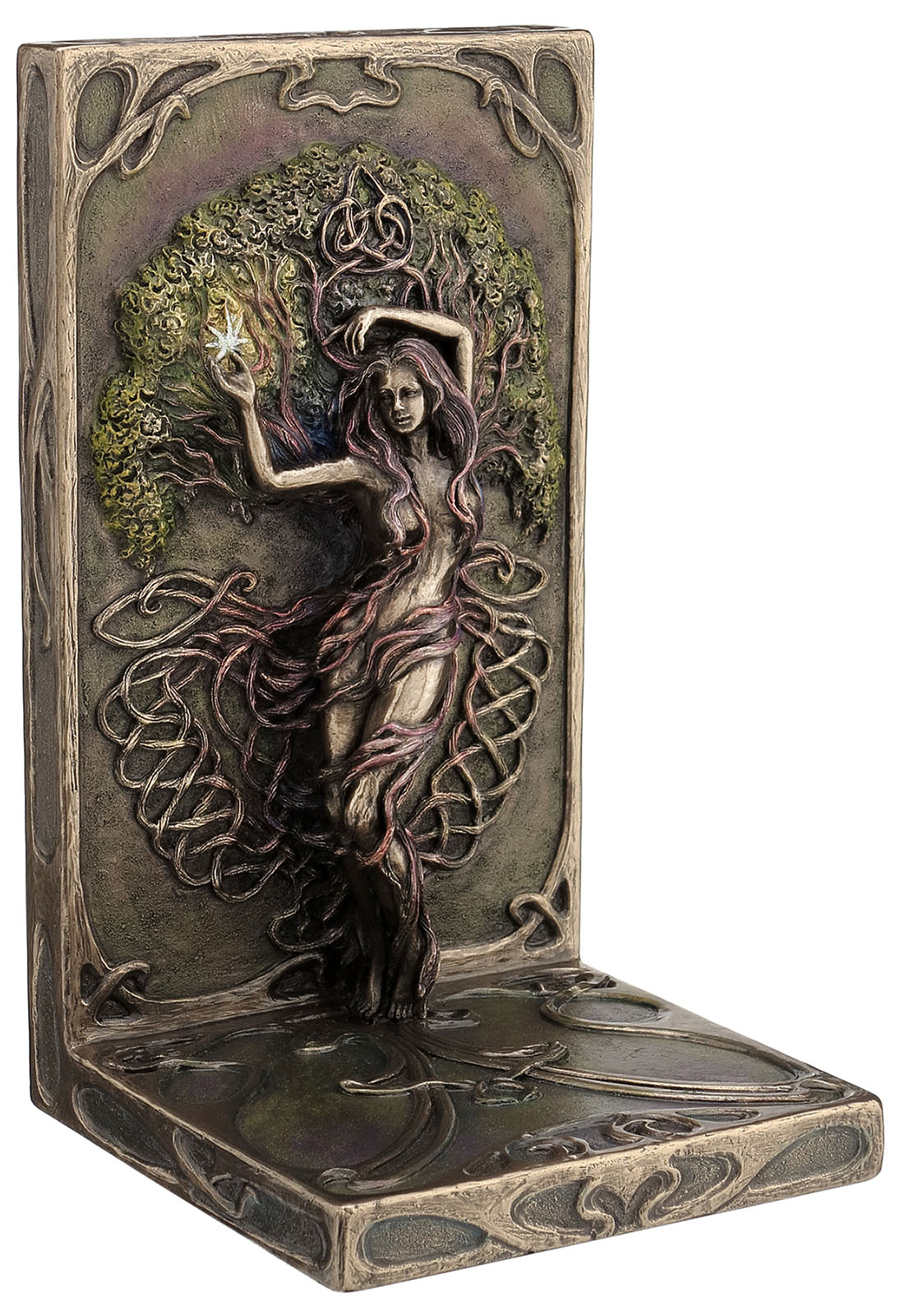 Earth Life Magic Bookend Bronze By Selina Fenech Tree
